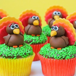 Fondant Turkey Toppers
