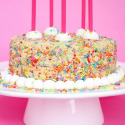 Rice Crispy Birthday Cake!