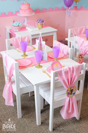 Once the girls sat down we served them a simple and kiddo friendly lunch featuring my girls favorites! The tiny dessert table displayed a few simple ... : princess table setting - Pezcame.Com