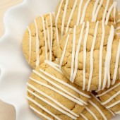 White Chocolate Pumpkin Cake Mix Cookies