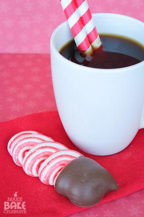 Peppermint Meringue Cookies Dipped In Chocolate