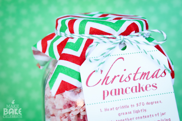 Christmas Pancakes In a Jar