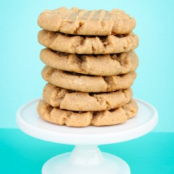 4 Ingredient Peanut Butter Cookies!
