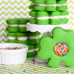 Shamrock Cookie Sandwiches
