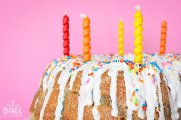 Birthday Cake Monkey Bread