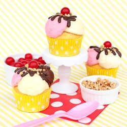 Banana Split Cupcakes For BHG!