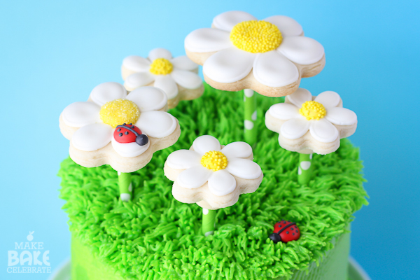 Popping Up Daises Cake