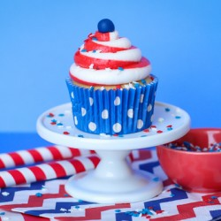 Patriotic Swirl Cupcakes – Two Toned Icing
