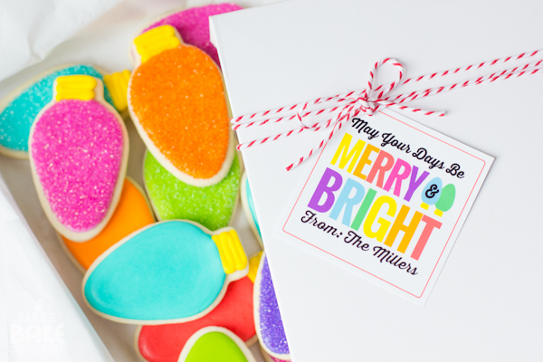Merry Bright Christmas Bulb Cookies