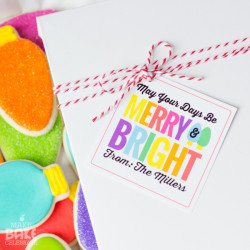 Merry & Bright Christmas Bulb Cookies