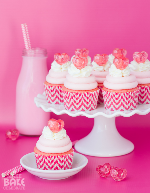 Strawberry Malt Cupcakes