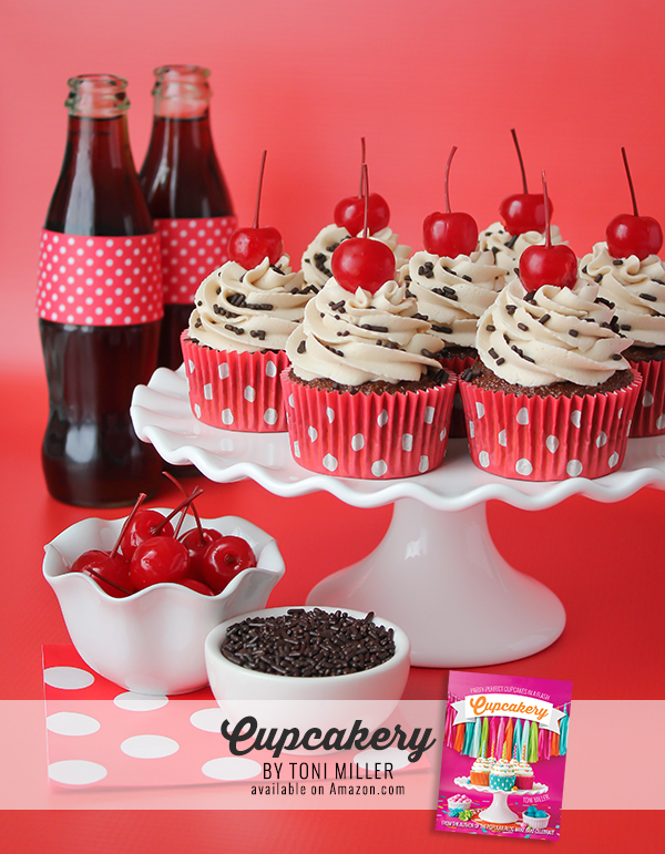 Cupcakery Book Cherry Cola Cupcakes