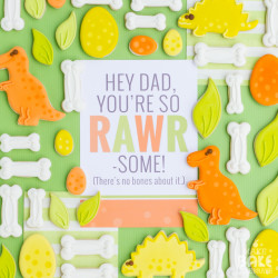 RAWR-some Father's Day Cookies