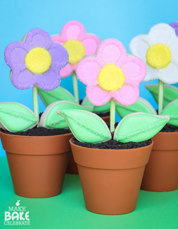 Flower Pot Cookie Tutorial