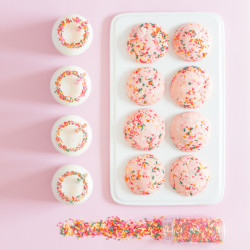 Strawberry Chip Funfetti Cookies