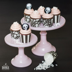 Strawberry Pink-O-Ween Cupcakes
