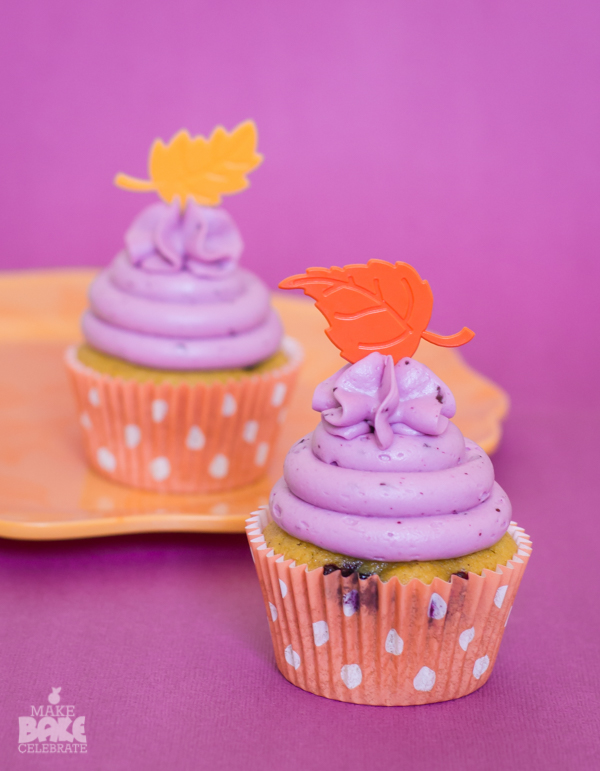 Blueberry Pumpkin Cupcakes