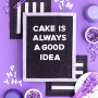 Letter Board Cake Tutorial
