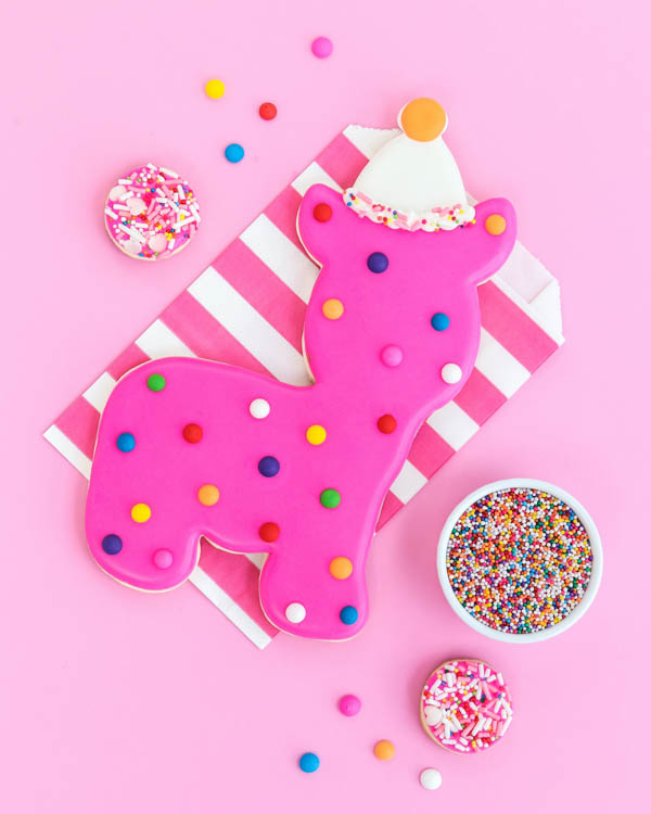 Giant Circus Animal Cookie Tutorial