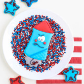 Firework cookies tutorial by Make Bake Celebrate