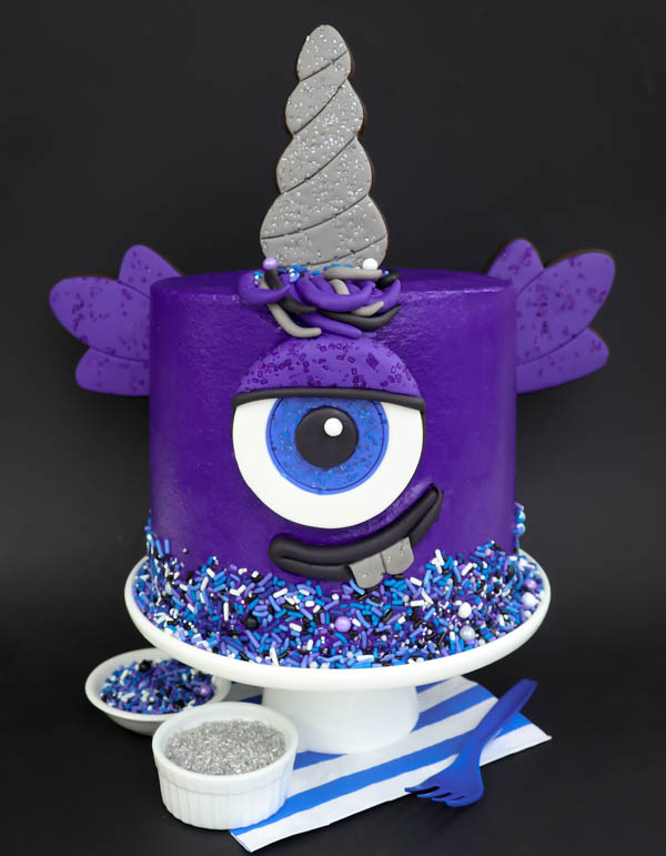 Purple People Eater Cake